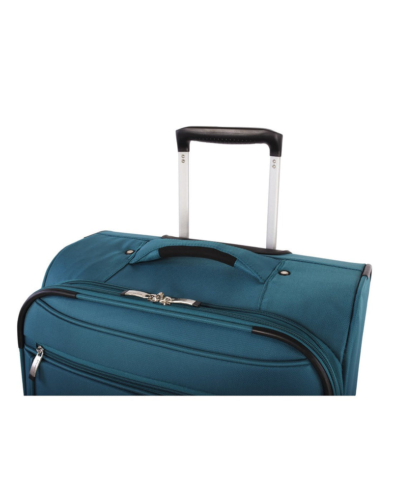 Atlantic solstice 3 piece spinner teal colour luggage set handle