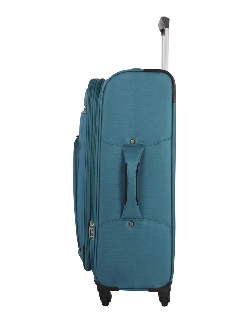 Atlantic solstice 3 piece spinner teal colour luggage set side handle