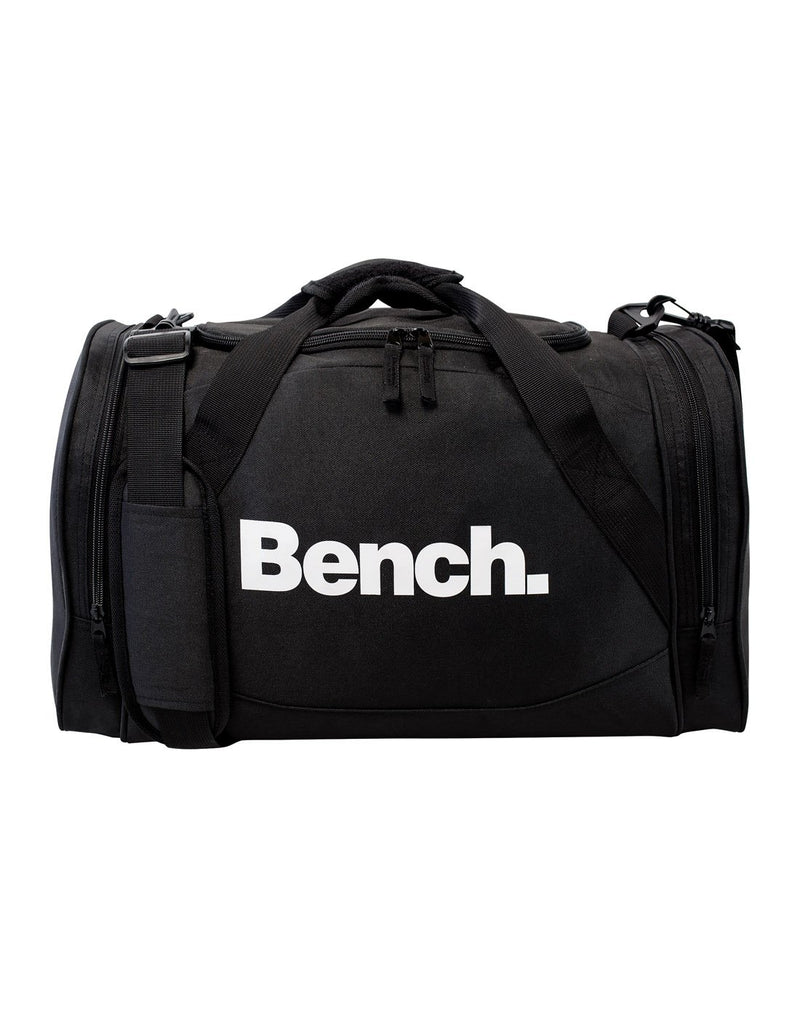 Bench sports black colour duffle bag front view