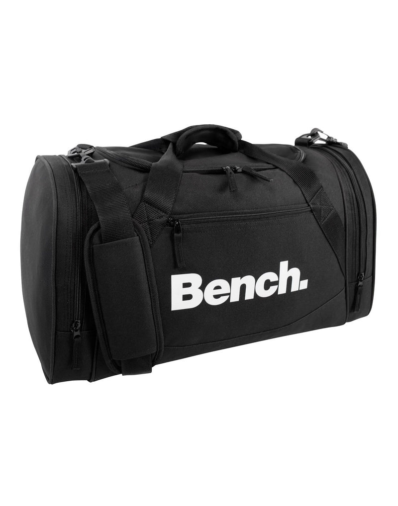 Bench sports black colour duffle bag corner view