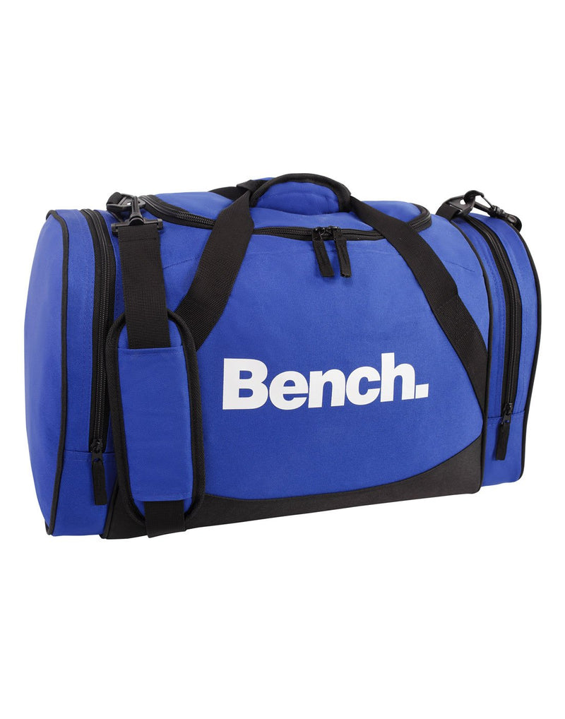 Bench sports blue colour duffle bag corner view