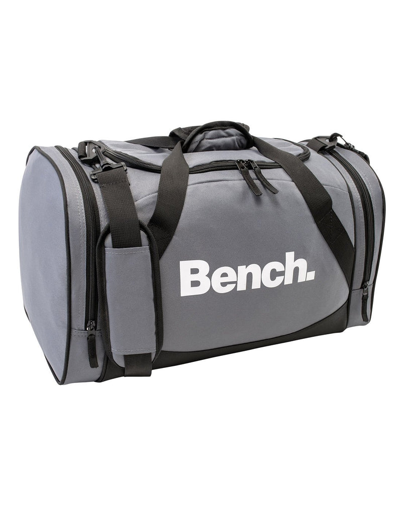 Bench sports grey colour duffle bag corner view