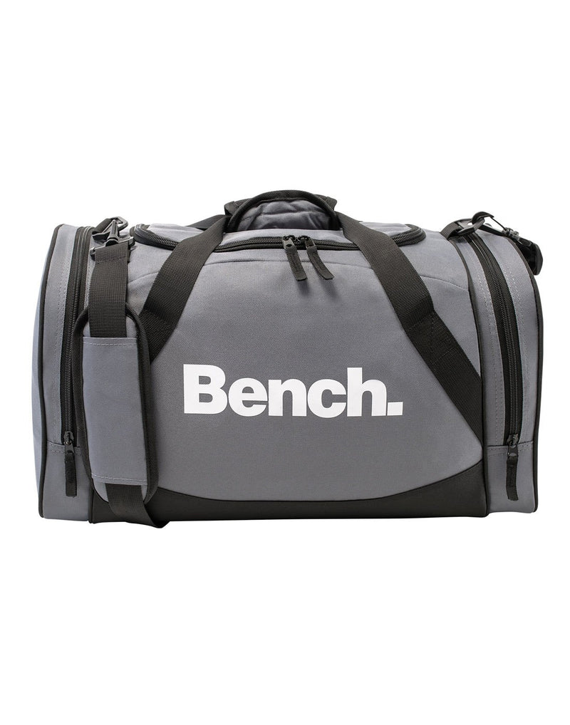 Bench sports grey colour duffle Bag front view