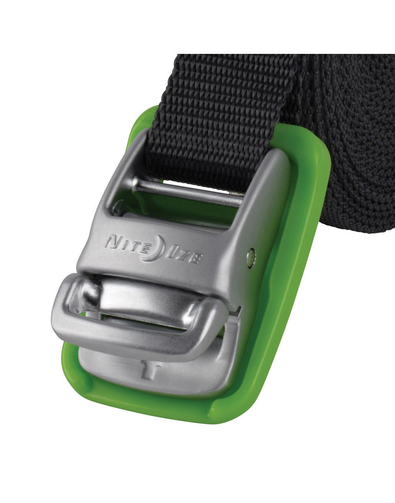 Green colour nite ize camjam® tie down straps close up view
