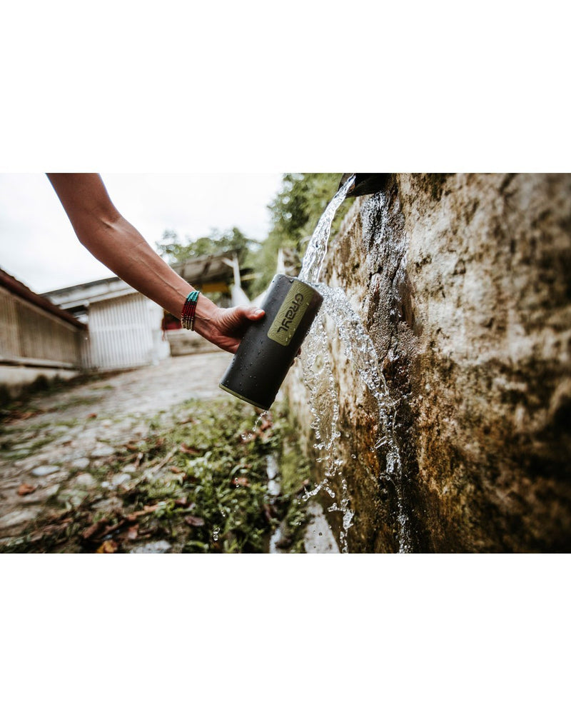 Grayl geopress camo black colour water purifier it makes safe, clean drinking water