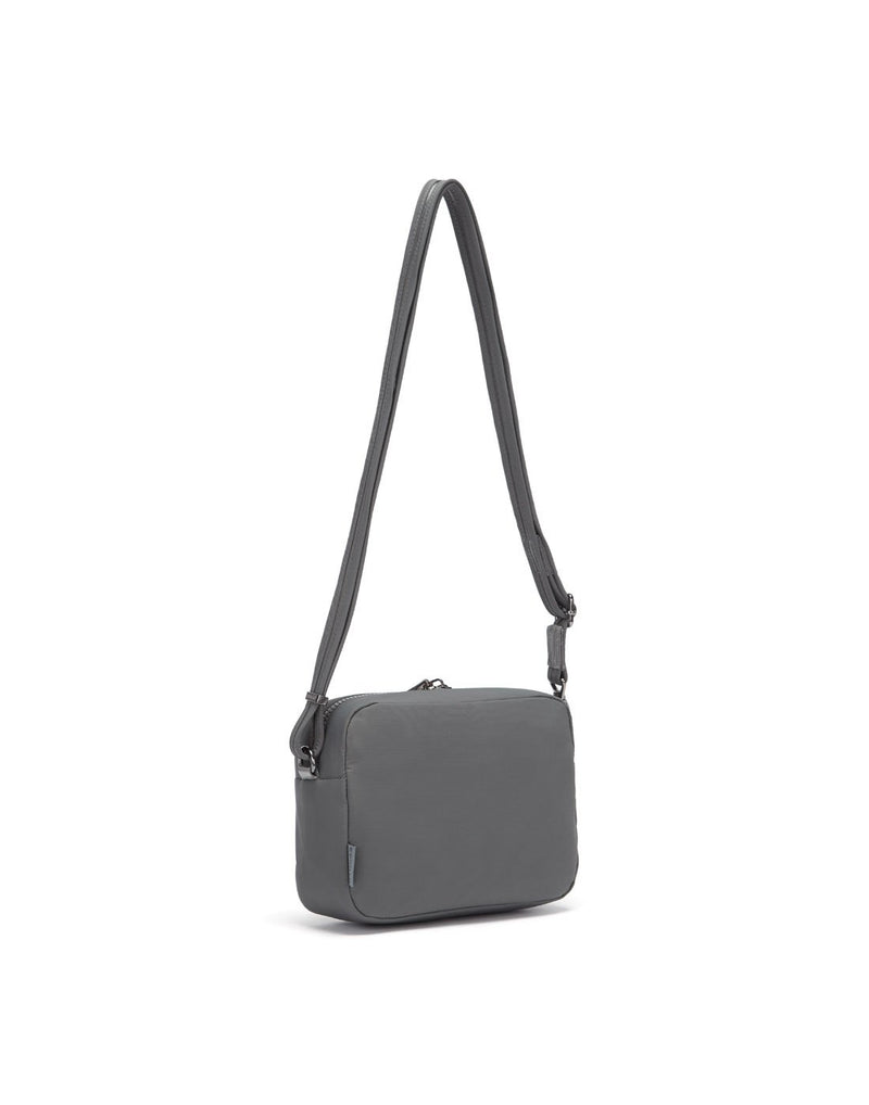 Citysafe cx econyl anti-theft square crossbody purse sideback view