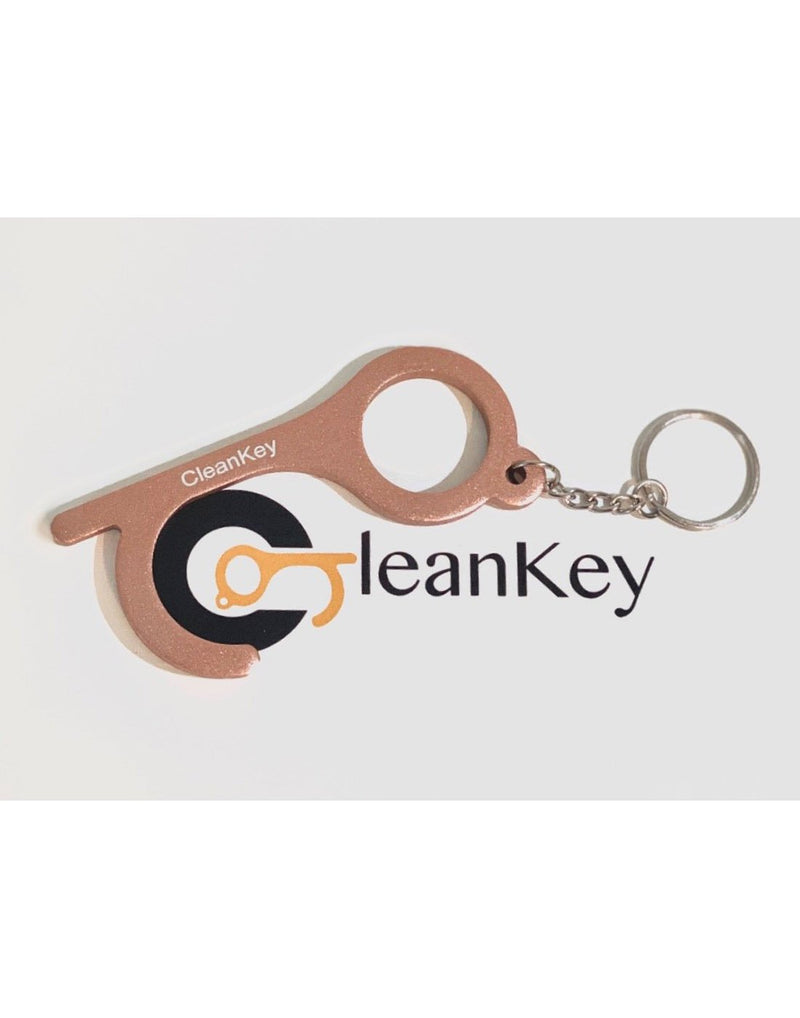 Cleankey hand tool  rose gold colour  front view