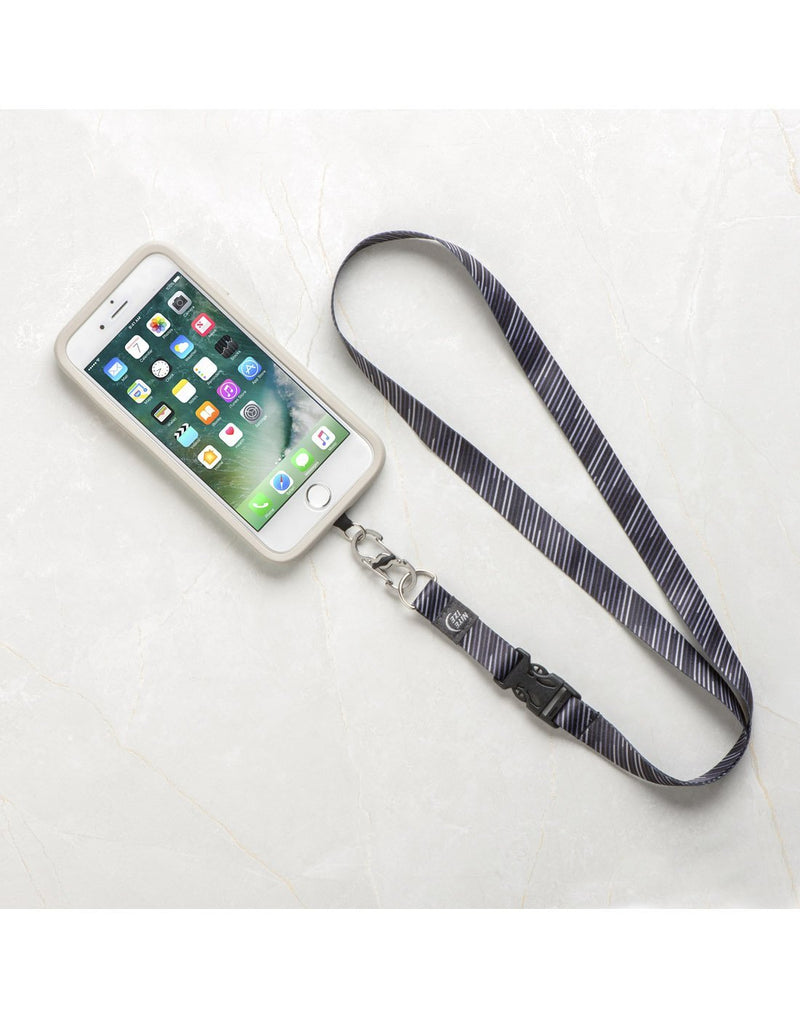 Nite ize hitch phone anchor + lanyard attached to phone