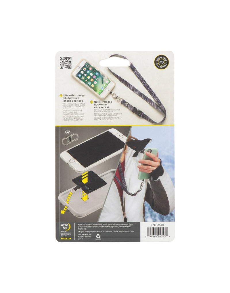 Nite ize hitch phone anchor + lanyard packaged back view