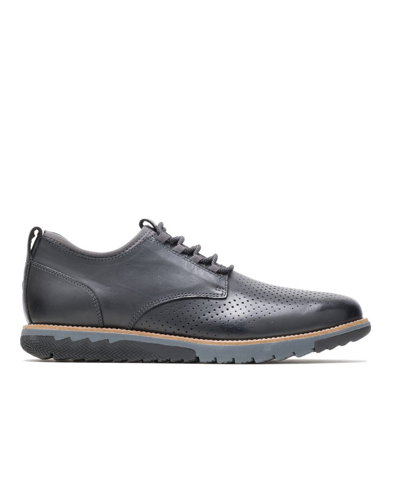 Hush puppies men's oxford shoe black leather colour side view