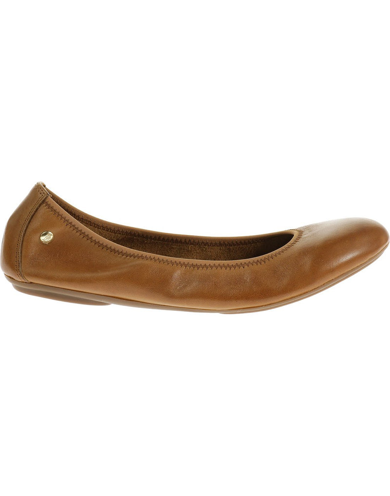 Hush puppies women's leather shoe cognac leather colour right side view