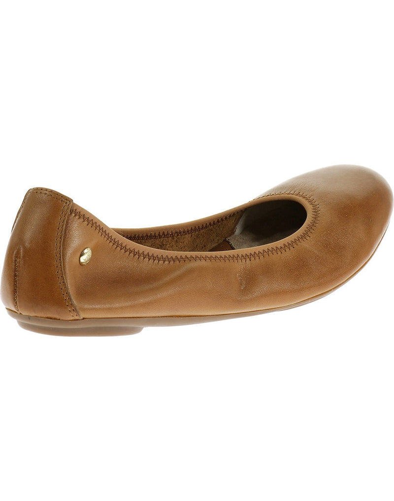 Hush puppies women's leather shoe cognac leather colour back view
