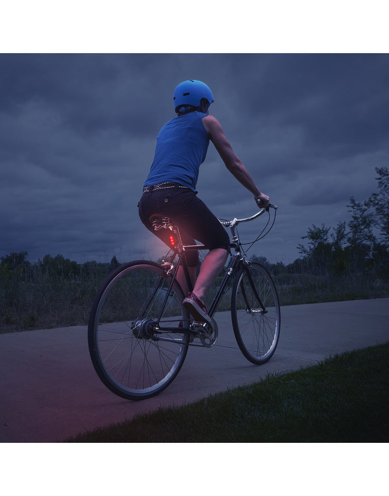 Using radiant® 50 bike light red LED at night
