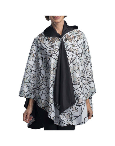 RainCaper Hooded Travel Cape - Tiffany Magnolia