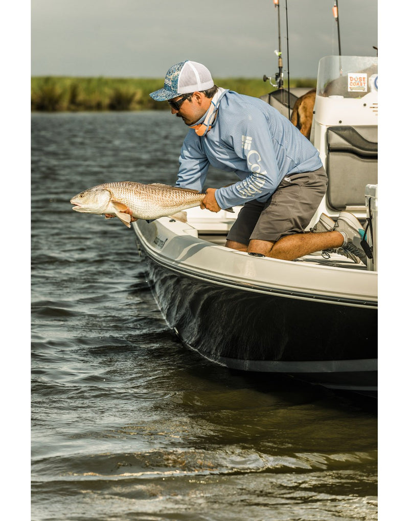Men wearing columbia men's pfg terminal tackle™ short grey colour side view