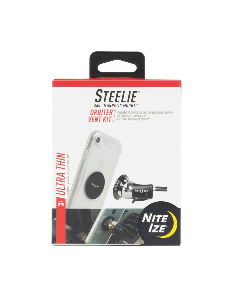 Nite ize steelie® orbiter® vent kit packaged front view