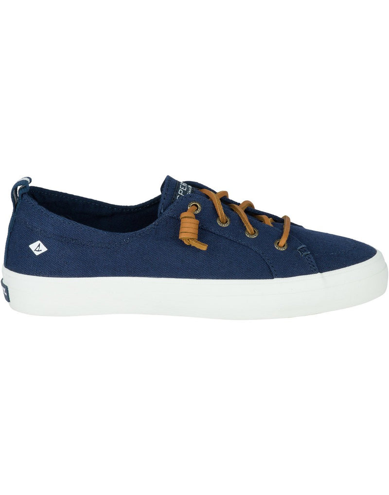 Women's crest vibe sneaker navy colour right side view