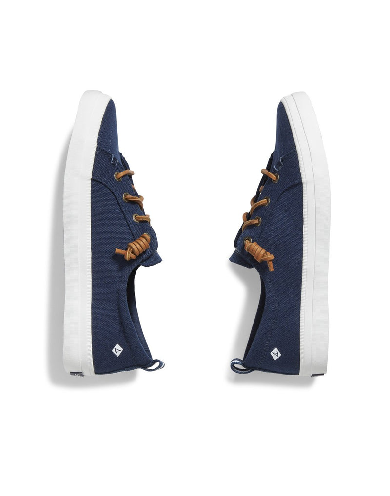 Women's crest vibe sneaker navy colour pair side view
