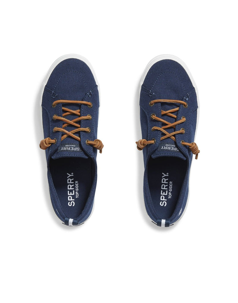 Women's crest vibe sneaker navy colour pair top view