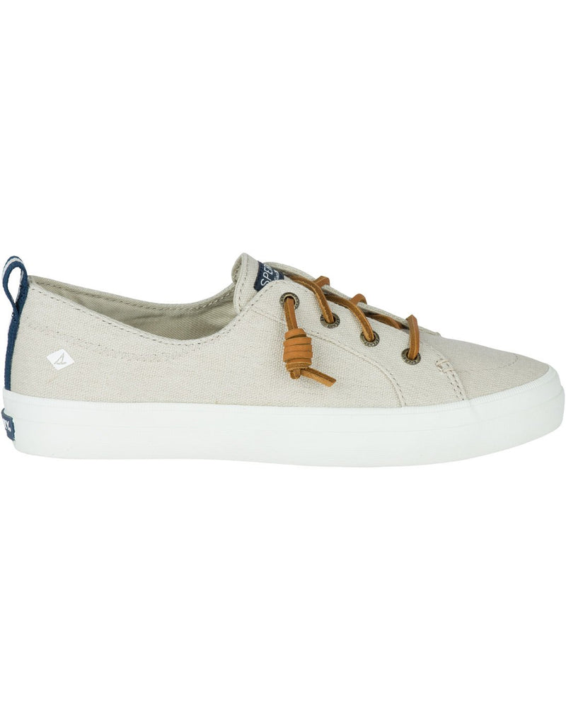 Women's crest vibe sneaker oat colour right side view