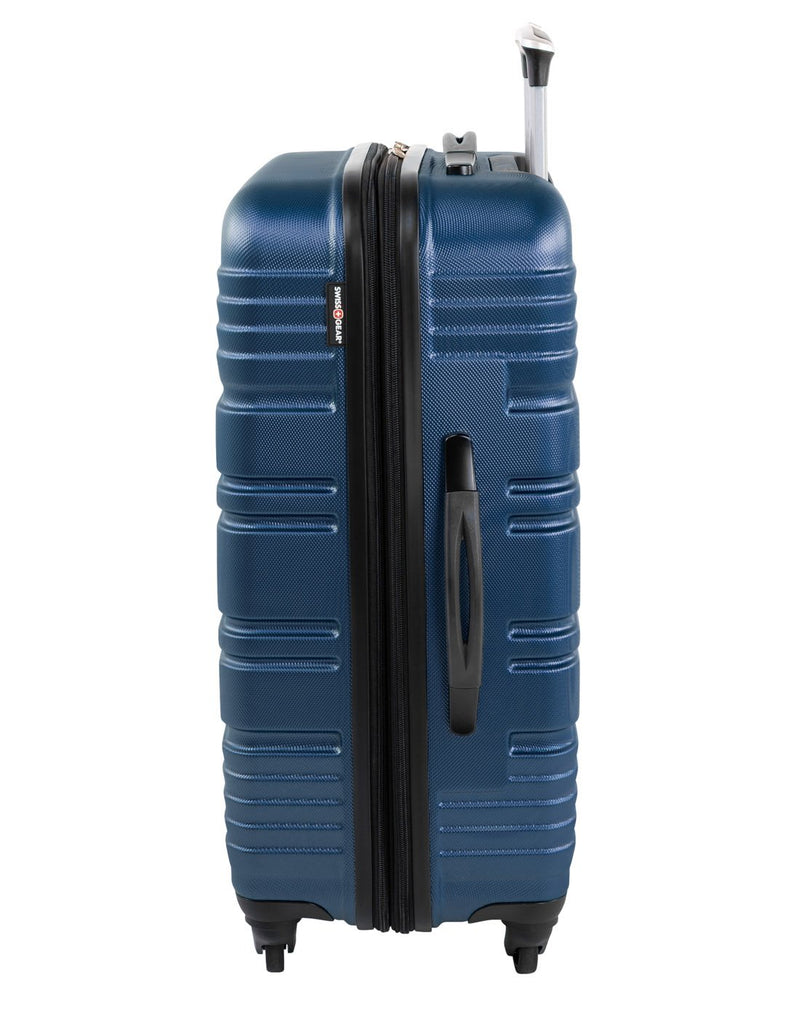 "Swiss gear aristocrat ii 28"" expandable spinner luggage bag left side view"