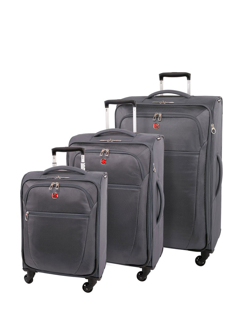 "Swiss gear vintage super lite 19"" grey colour luggage bag group"