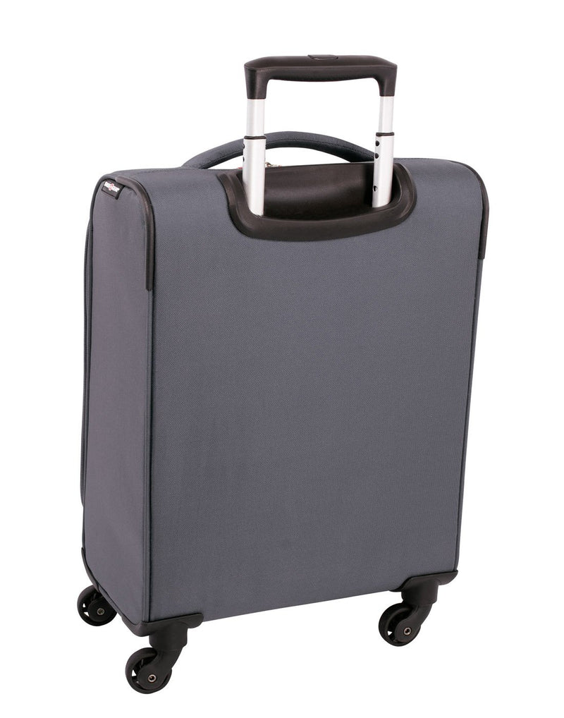 "Swiss gear vintage super lite 19"" grey colour luggage bag back view"