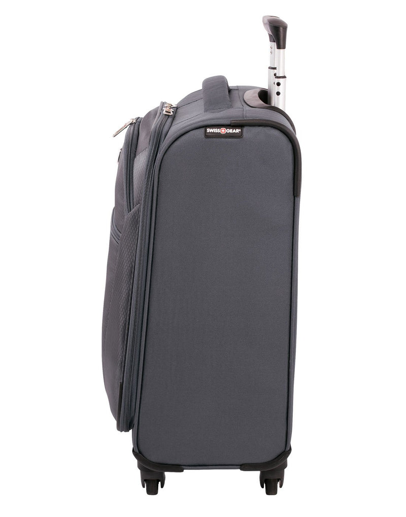 "Swiss gear vintage super lite 19"" grey colour luggage bag right side view"