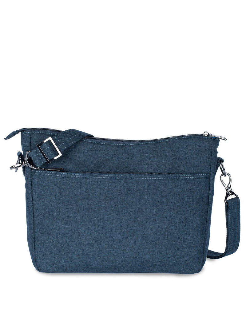 Lug slider navy blue colour crossbody purse back view