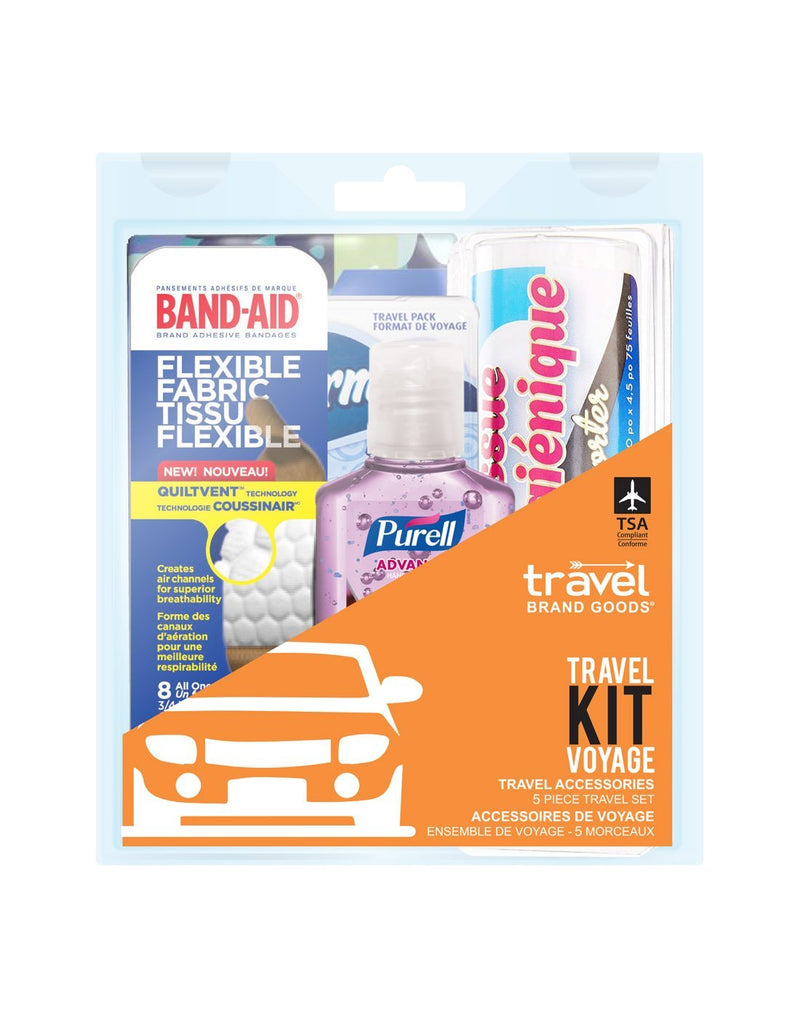 Travel accessories 5 piece travel kit