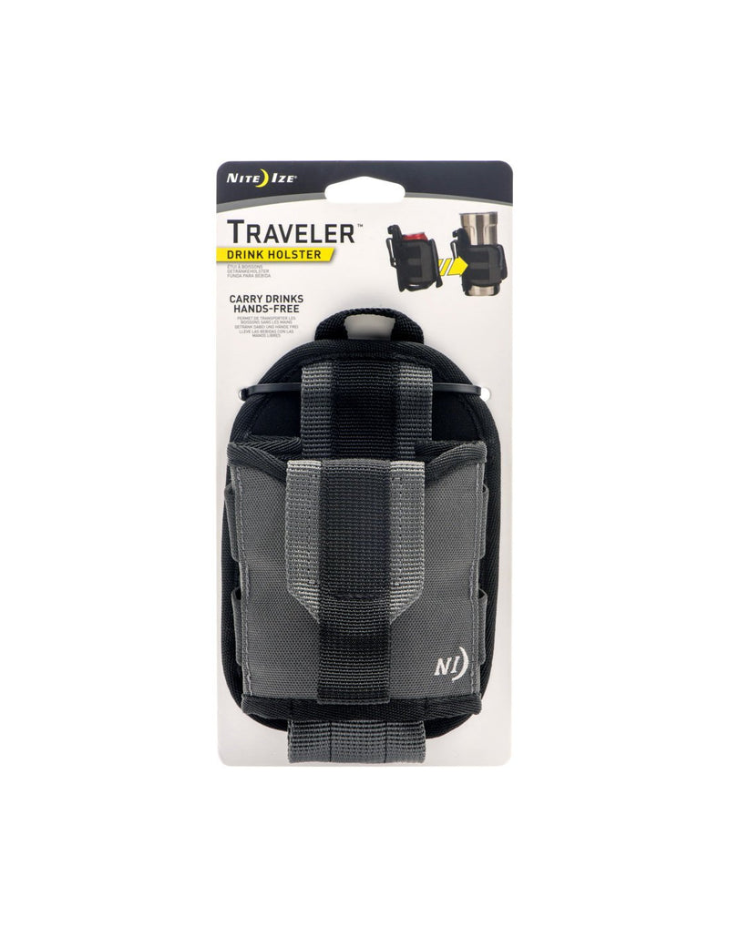 Nite ize traveler™ drink holster packed front view