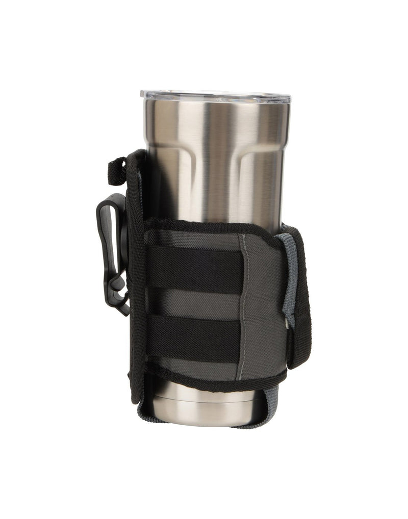 Nite ize traveler™ drink holster side view with glass