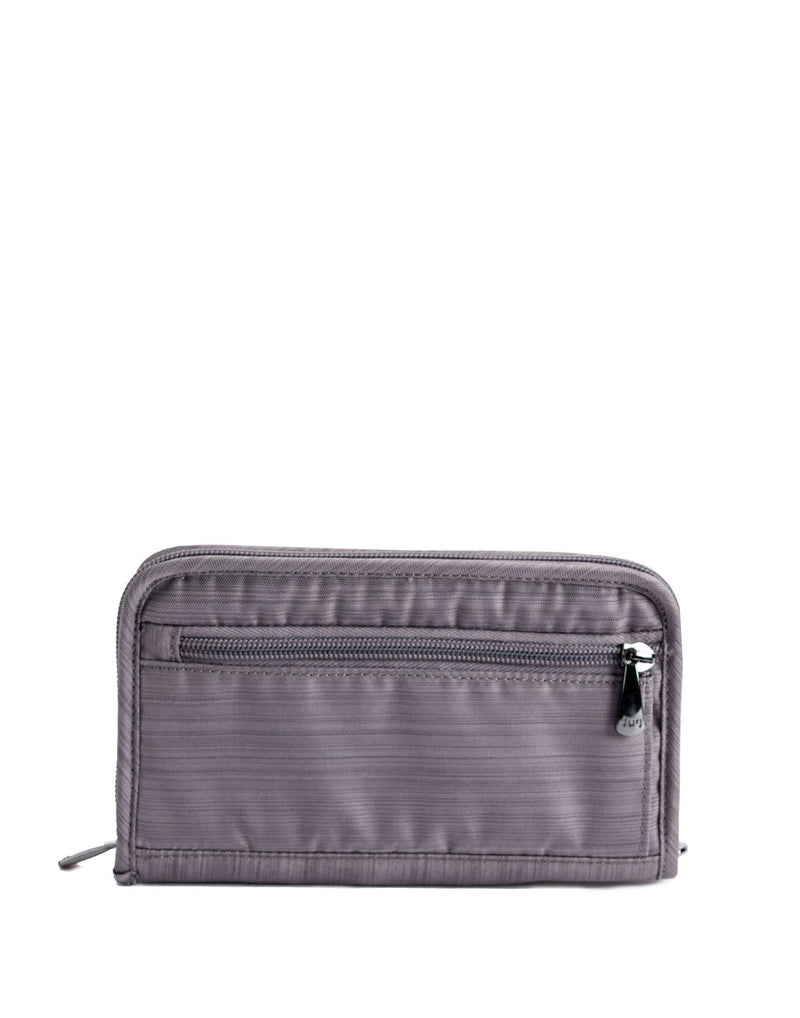 Lug tandem brushed pearl colour zip wallet back view