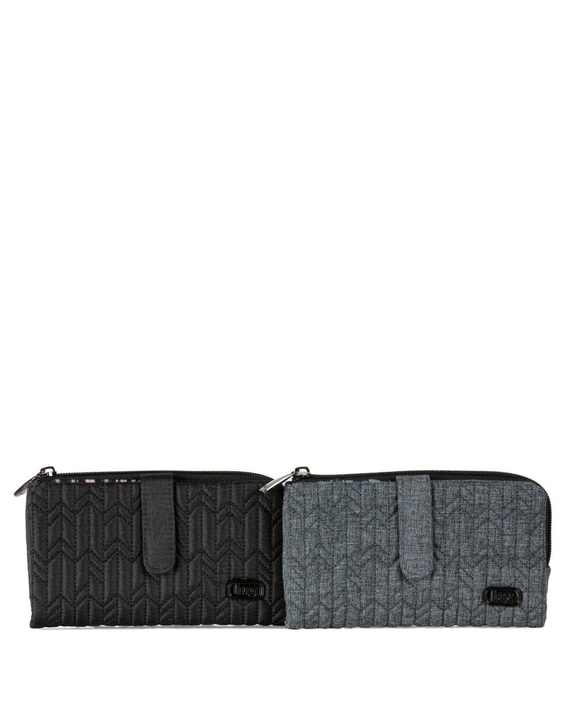 Lug tram wild shimmer black and heather grey colour wallet
