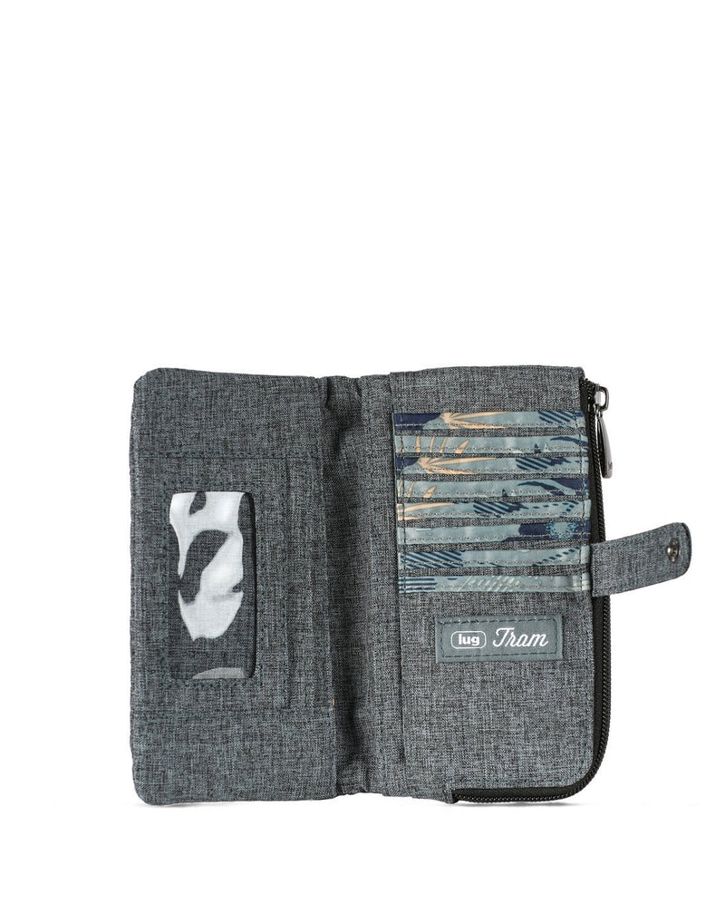 Lug tram wild heather grey colour wallet inside view