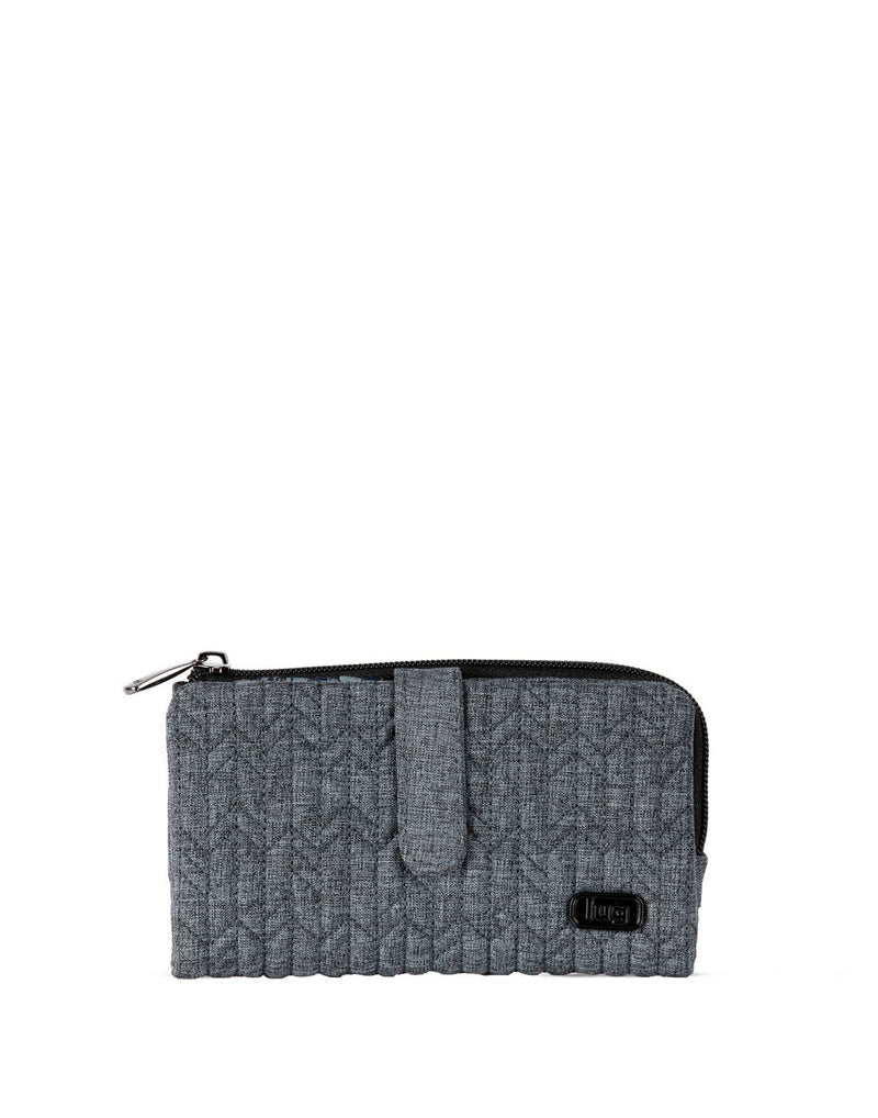 Lug tram wild heather grey colour wallet front view