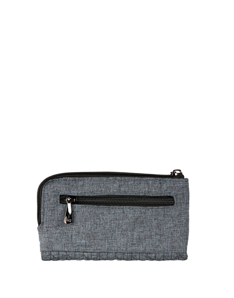 Lug tram wild heather grey colour wallet back view