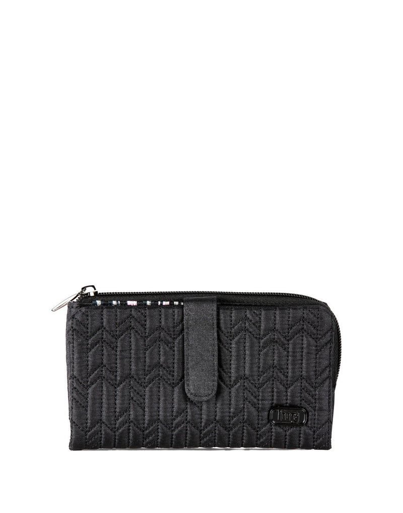 Lug tram wild shimmer black colour wallet front view