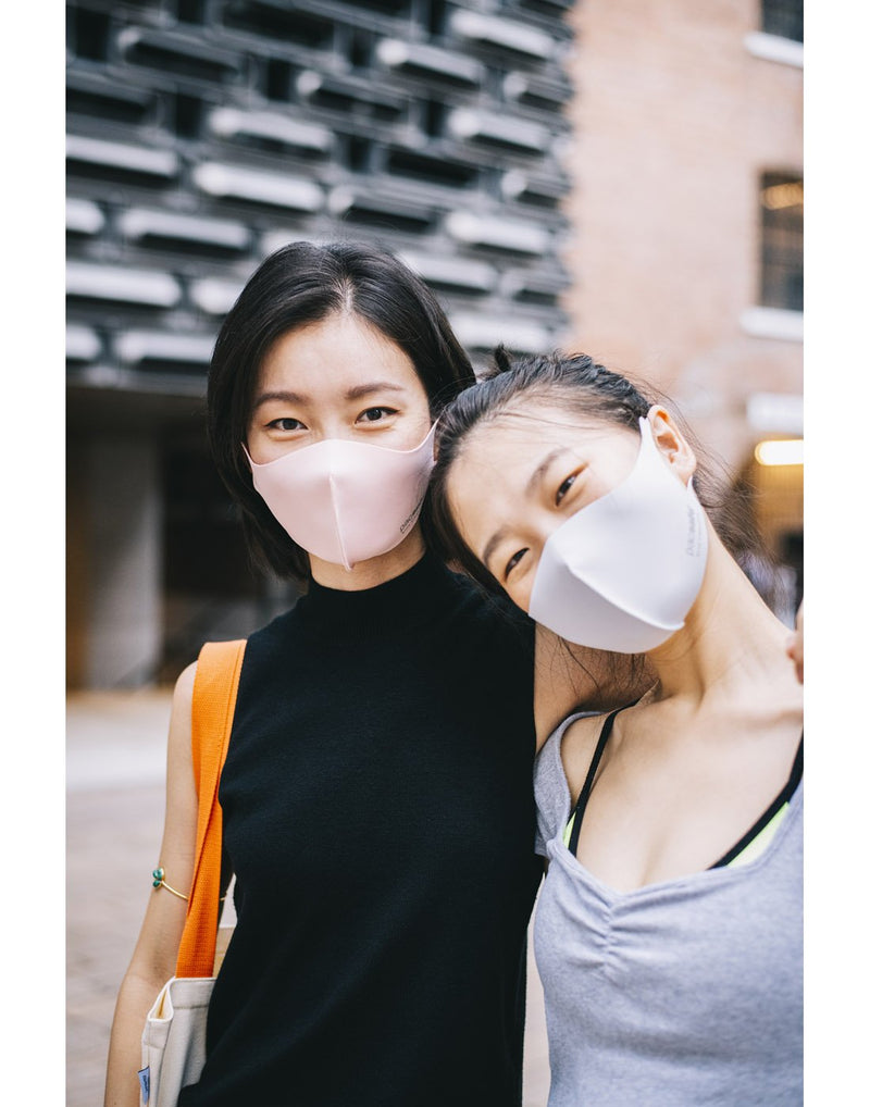 Girls wearing mask