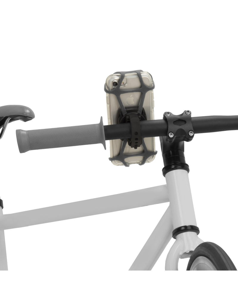 Nite ize wraptor smartphone bar mount attached to bike