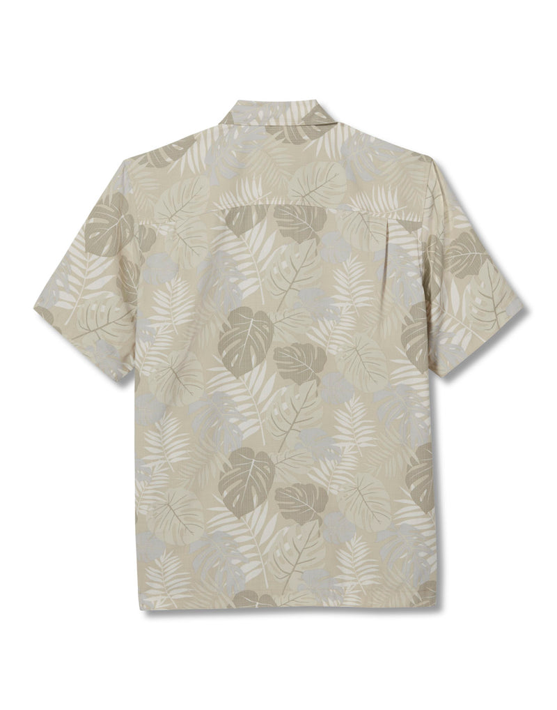 Royal Robbins Men's Comino Leaf Short Sleeve Shirt - sand print, back view