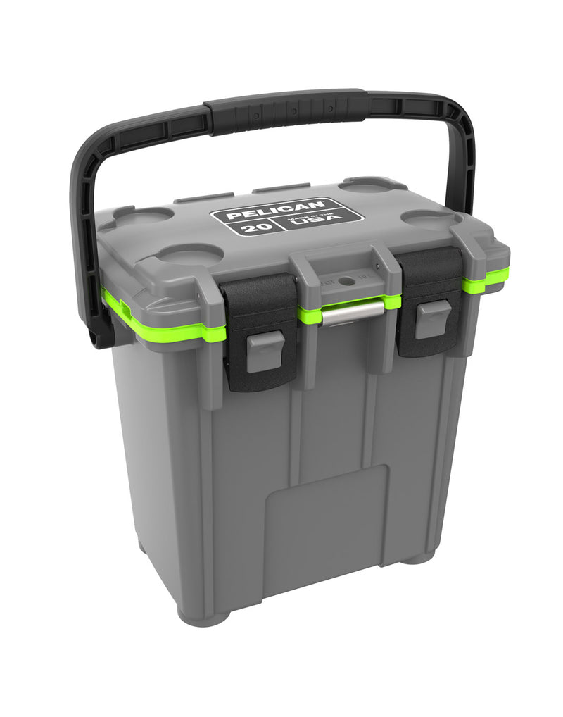 Pelican™ Elite 20qt Cooler - dark grey and green colour, product front top view