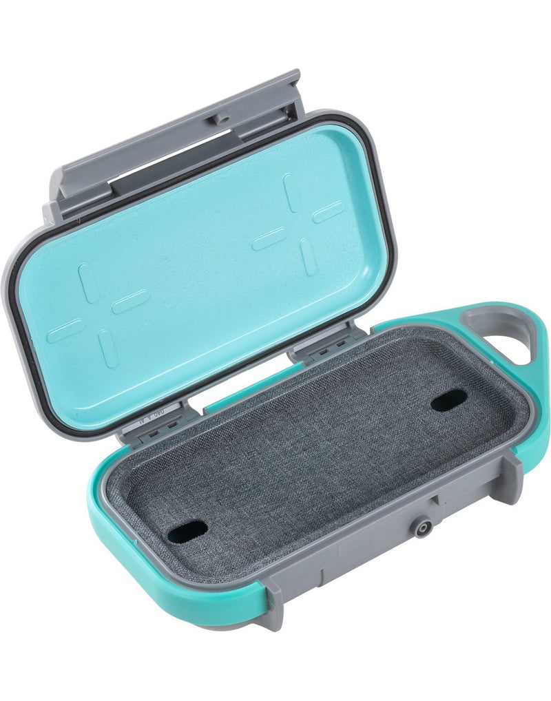 "Pelican goâ""¢ g40 personal utility slate / teal colour open view"