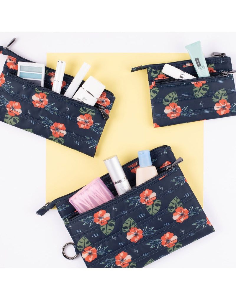 Lug aloha navy design transport 3 pack envelopes zipper pocket