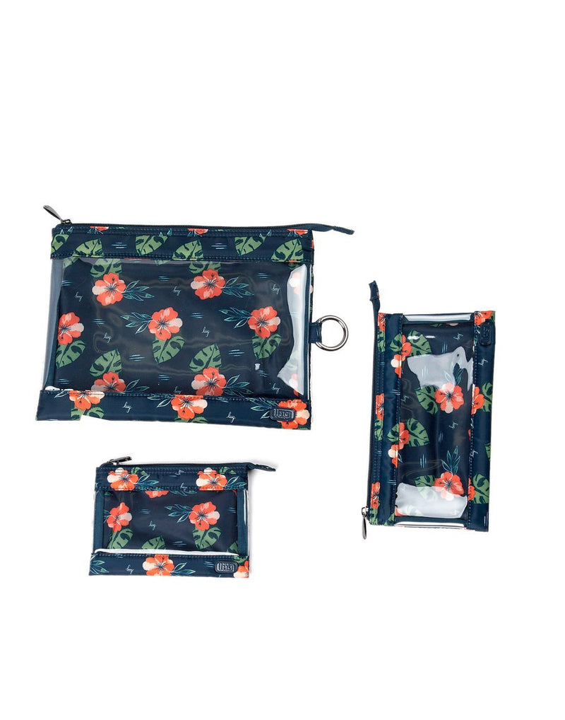 Lug aloha navy design transport 3 pack envelopes top view