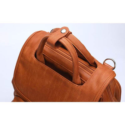 Fashion PU Leather Diaper Backpack
