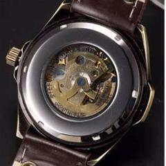 Military Style Mechanical Skeleton Watch