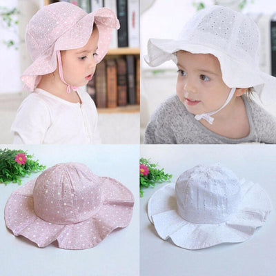 Wide Brim Floppy Beach Hat - Girls