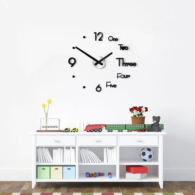 3D Modern Wall Clock - Perfect for your Kitchen, Living Room or Bedroom!