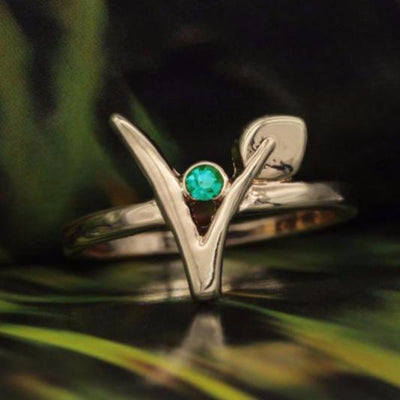 Vegan Symbol Ring GIVAWAY - just pay shipping